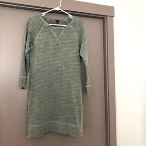 J Crew sweatshirt dress vintage wash